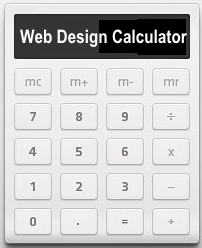 Web Design Calculator